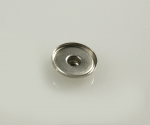 100x Chunks Click Button Rohling Cabochon-Gegenteil aus Messing 18mm