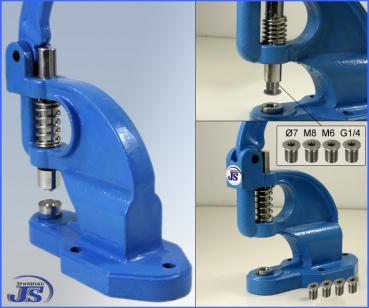 Universelle Aluminium Hand Presse Handpresse Ösenpresse Nieten Knöpfe Stanze