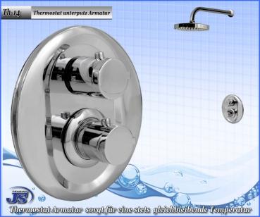 Top Thermostat Duschkopf Unterputz Armatur Anschluss 1/2Zoll YA86