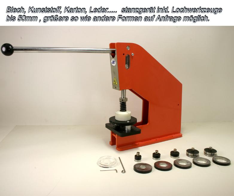 Kniehebelpresse Handpresse Hp 7 Mit Blech Lochstanze Set Bis D50mm
