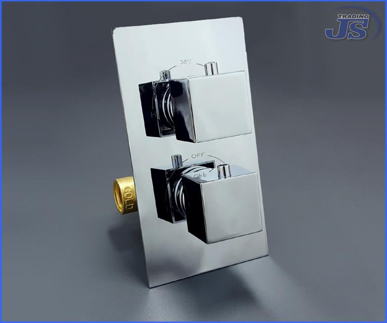 Extrem Thermostat Duschkopf Unterputz Armatur Anschluss 1/2 Zoll KG59